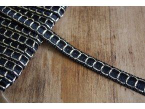 Černo-zlatý prýmek ve stylu Chanel, 12mm