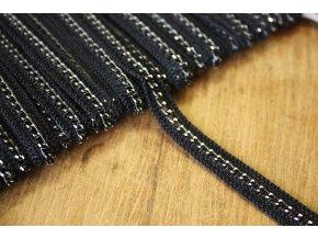 Černý prýmek s řetízkem, 10mm