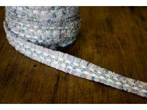 Fialovo-bílá bordura ve stylu Chanel