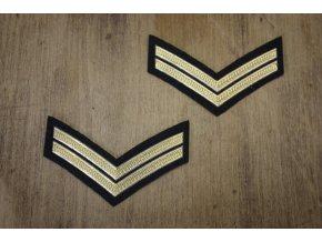 Nažehlovací aplikace military frčky na rukávy
