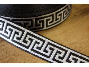 Černo-stříbrný popruh á la Versace