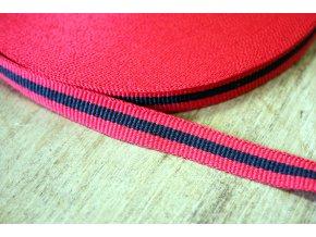 Červeno-černá rypsová stuha