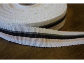 Bavlněná rypsová stuha, 25mm