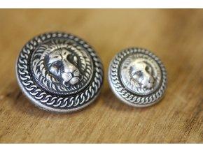 Stříbrný knoflík se lvem, 25mm, 22mm