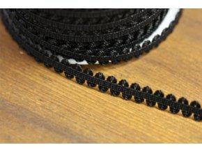 Jemná černá gumička, 11mm