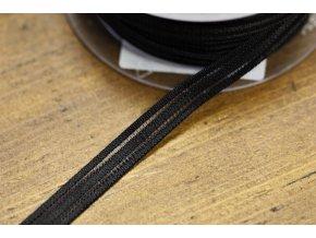 Černá guma s průsvitným pruhem, 10mm