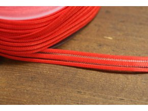Červená guma s průsvitným pruhem, 10mm