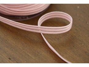 Růžová guma s průsvitným pruhem, 10mm