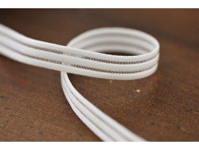 Bílá guma s průsvitným pruhem, 10mm