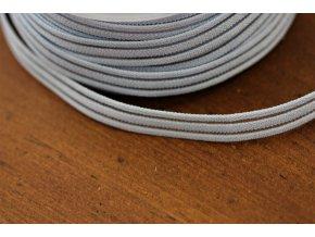 Světle modrá guma s průsvitným pruhem, 10mm