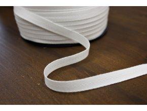 Bílá bavlněná keprovka, 10mm