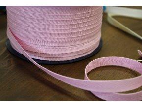 Růžová bavlněná keprovka, 10mm