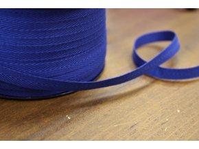 Modrá bavlněná keprovka, 10mm