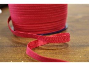 Červená bavlněná keprovka, 10mm