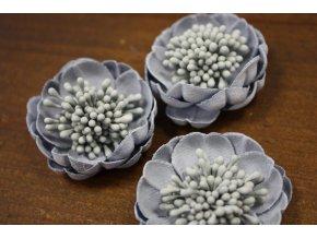 Šedo-modrá květina