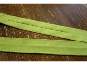 Hraškově zelený úpletový šikmý proužek