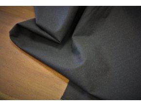 Černý bavlněný vlizelín