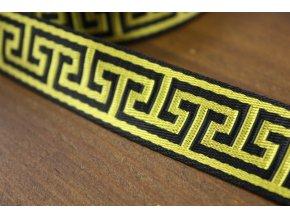 Černo-žluty popruh á la Versace, 3cm