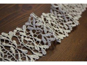 Stříbrná krajka design Valentino