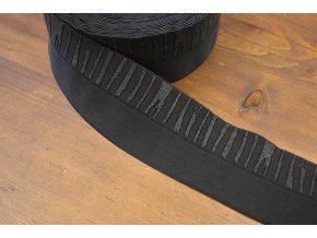 Černá široká guma - náplet, 9 cm