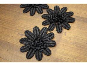 Černá květina, 8cm