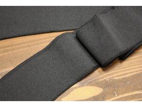 Černý jednoduchý náplet, 6cm