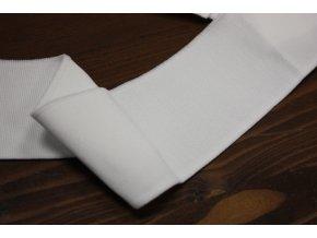Bílý jednoduchý náplet, 6cm