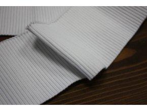 Bílý žebrovaný náplet, 7cm