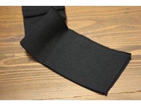 Černý žebrovaný náplet, 7cm