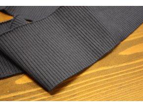 Tmavě modrý žebrovaný náplet, 7cm