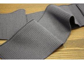 Tmavě šedý žebrovaný náplet, 7cm