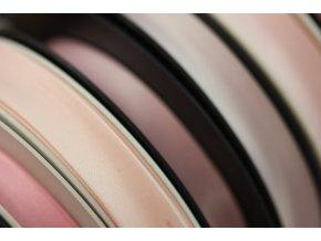 Saténový šikmý proužek, odstíny růžové 14mm