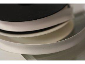 Saténový šikmý proužek, odstíny bílé 14mm