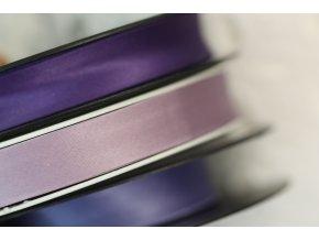 Saténový šikmý proužek, odstíny fialové 14mm