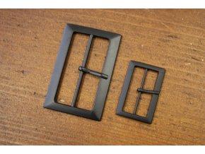 Černá matná spona, 30mm a 40 mm