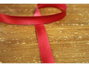 Saténový šikmý proužek, odstíny červené