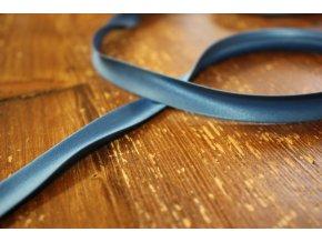 Saténový šikmý proužek, odstíny modré 14mm