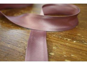 Saténový šikmý proužek, odstíny růžové 25 mm