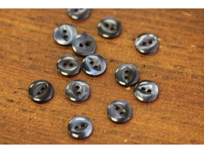 Šedomodrý perleťový knoflík, 12mm