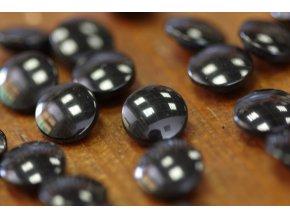Černý halenkový knoflík, 11mm