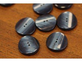 Tmavě modrý kabátový knoflík, 30 mm