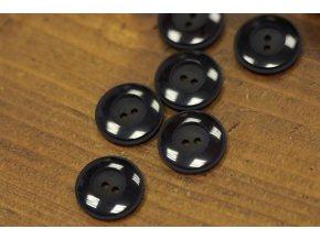 Černý knoflík s prolisem ve stylu ART DECO, 20mm