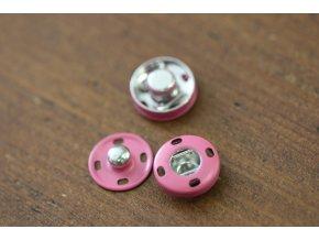Růžové hliníkové patenty, 14 mm