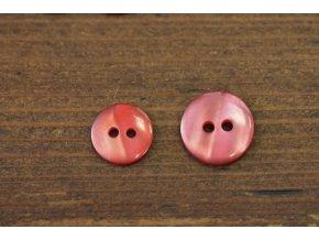 Bledě červený knoflík, 12mm, 15mm