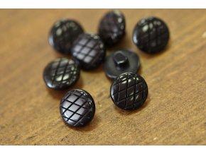 Černý knoflík, 11mm