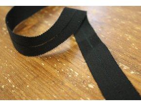 Rypsový lemovací proužek v černé barvě