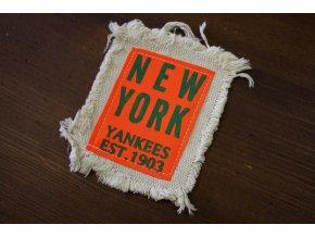 Našívací bavlněná aplikace New York Yankees