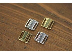 Kovové zapínání na podprsenku/plavky, 12mm