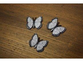 """Nažehlovací aplikace """"šedý motýlek"""""""