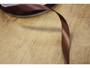 Oboustranná čokoládová saténová stuha, 9 mm
